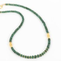 Green Apatite With Gold Accents Necklace, Natural Deep Green Apatite, Delicate Gemstone Choker | Natural genuine Gemstone jewelry. Buy crystal jewelry, handmade handcrafted artisan jewelry for women.  Unique handmade gift ideas. #jewelry #beadedjewelry #beadedjewelry #gift #shopping #handmadejewelry #fashion #style #product #jewelry #affiliate #ad