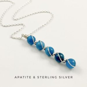 Shop Apatite Pendants! Apatite, Blue Apatite pendant necklace with sterling silver | Natural genuine Apatite pendants. Buy crystal jewelry, handmade handcrafted artisan jewelry for women.  Unique handmade gift ideas. #jewelry #beadedpendants #beadedjewelry #gift #shopping #handmadejewelry #fashion #style #product #pendants #affiliate #ad