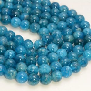 Shop Apatite Round Beads! Genuine Natural Blue Apatite Gemstone Grade AAA 4mm 6mm 8mm 10mm Round Loose Beads 15.5 inch Full Strand BULK LOT 1,2,6,12 and 50 (117) | Natural genuine round Apatite beads for beading and jewelry making.  #jewelry #beads #beadedjewelry #diyjewelry #jewelrymaking #beadstore #beading #affiliate #ad