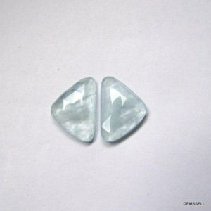 Shop Aquamarine Cabochons! Pair 2 pieces 21×14.3m Aquamarine Rosecut Uneven Cabochon Faceted Gemstone, Natural Aquamarine Uneven Rosecut Faceted Cabochon Gemstone | Natural genuine stones & crystals in various shapes & sizes. Buy raw cut, tumbled, or polished gemstones for making jewelry or crystal healing energy vibration raising reiki stones. #crystals #gemstones #crystalhealing #crystalsandgemstones #energyhealing #affiliate #ad