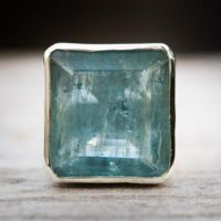 Aquamarine Ring 8.5 – Aquamarine Statement Ring Size 8.5 – Genuine Aquamarine And Sterling Silver Ring – Aquamarine Ring Beautiful Blue Aqua | Natural genuine Gemstone jewelry. Buy crystal jewelry, handmade handcrafted artisan jewelry for women.  Unique handmade gift ideas. #jewelry #beadedjewelry #beadedjewelry #gift #shopping #handmadejewelry #fashion #style #product #jewelry #affiliate #ad