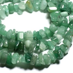 Shop Aventurine Chip & Nugget Beads! Wire 89cm 140pc env – stone beads – Aventurine green Chips 6-19mm seed beads | Natural genuine chip Aventurine beads for beading and jewelry making.  #jewelry #beads #beadedjewelry #diyjewelry #jewelrymaking #beadstore #beading #affiliate #ad