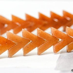 Shop Aventurine Bead Shapes! L/ Red Aventurine 16×16 V-shape Loose Beads.  About 30pc per std Special Cut Wholesale discount @EARTHSTONE.COM | Natural genuine other-shape Aventurine beads for beading and jewelry making.  #jewelry #beads #beadedjewelry #diyjewelry #jewelrymaking #beadstore #beading #affiliate #ad