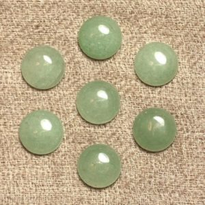 Shop Aventurine Round Beads! 2PC – Cabochon stone – Aventurine green round 10mm 4558550021342 | Natural genuine round Aventurine beads for beading and jewelry making.  #jewelry #beads #beadedjewelry #diyjewelry #jewelrymaking #beadstore #beading #affiliate #ad