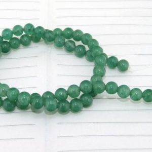 Shop Aventurine Round Beads! SALE PRICE Aventurine Beads Smooth Round Shape — 4mm ,6mm, 8mm ,10mm ,12mm ,14mm — 15.5 inches full strand | Natural genuine round Aventurine beads for beading and jewelry making.  #jewelry #beads #beadedjewelry #diyjewelry #jewelrymaking #beadstore #beading #affiliate #ad