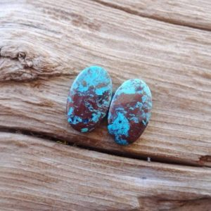 Pair Azurite cabochons 20x12mm | Natural genuine stones & crystals in various shapes & sizes. Buy raw cut, tumbled, or polished gemstones for making jewelry or crystal healing energy vibration raising reiki stones. #crystals #gemstones #crystalhealing #crystalsandgemstones #energyhealing #affiliate #ad