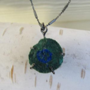 Shop Azurite Pendants! Azurite Geode, sterling silver prong pendant necklace | Natural genuine Azurite pendants. Buy crystal jewelry, handmade handcrafted artisan jewelry for women.  Unique handmade gift ideas. #jewelry #beadedpendants #beadedjewelry #gift #shopping #handmadejewelry #fashion #style #product #pendants #affiliate #ad