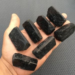 Shop Raw & Rough Black Tourmaline Stones! 2 Pieces Tourmaline Raw Size 25×45-35×50 MM,Raw Brazilian Black Tourmaline Crystal,Natural Black Tourmaline Gemstone,Raw Black Tourmaline | Natural genuine stones & crystals in various shapes & sizes. Buy raw cut, tumbled, or polished gemstones for making jewelry or crystal healing energy vibration raising reiki stones. #crystals #gemstones #crystalhealing #crystalsandgemstones #energyhealing #affiliate #ad