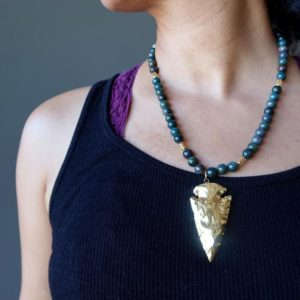 Shop Bloodstone Necklaces! Bloodstone Necklace Gold Arrowhead Jewelry | Natural genuine Bloodstone necklaces. Buy crystal jewelry, handmade handcrafted artisan jewelry for women.  Unique handmade gift ideas. #jewelry #beadednecklaces #beadedjewelry #gift #shopping #handmadejewelry #fashion #style #product #necklaces #affiliate #ad