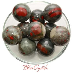 Shop Bloodstone Stones & Crystals! 1 African Bloodstone Sphere + Stand Size Large #ab13 | Natural genuine stones & crystals in various shapes & sizes. Buy raw cut, tumbled, or polished gemstones for making jewelry or crystal healing energy vibration raising reiki stones. #crystals #gemstones #crystalhealing #crystalsandgemstones #energyhealing #affiliate #ad