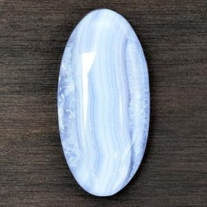 Shop Blue Lace Agate Cabochons! Blue Lace Agate Cabochon Stone (37mm x 18mm x 7mm) – Oval Cabochon – Blue Gemstone | Natural genuine stones & crystals in various shapes & sizes. Buy raw cut, tumbled, or polished gemstones for making jewelry or crystal healing energy vibration raising reiki stones. #crystals #gemstones #crystalhealing #crystalsandgemstones #energyhealing #affiliate #ad