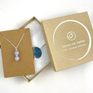 Shop Blue Lace Agate Necklaces! Blue Lace Agate Necklace, Sterling Silver, dainty light blue necklace | Natural genuine Blue Lace Agate necklaces. Buy crystal jewelry, handmade handcrafted artisan jewelry for women.  Unique handmade gift ideas. #jewelry #beadednecklaces #beadedjewelry #gift #shopping #handmadejewelry #fashion #style #product #necklaces #affiliate #ad