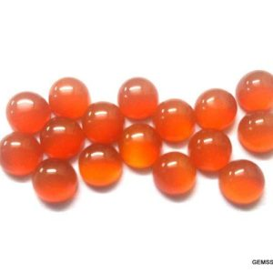 Shop Carnelian Cabochons! 10 Pieces 5mm Carnelian Cabochon Round Gemstone, Orange Carnelian Round Cabochon Aaa Quality Gemstone, Carnelian Cabochon Round Flat | Natural genuine stones & crystals in various shapes & sizes. Buy raw cut, tumbled, or polished gemstones for making jewelry or crystal healing energy vibration raising reiki stones. #crystals #gemstones #crystalhealing #crystalsandgemstones #energyhealing #affiliate #ad