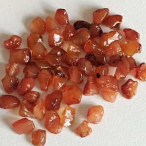 Shop Carnelian Chip & Nugget Beads! 6-8mm Carnelian Rough Stones, Raw Carnelian, Loose Rough Carnelian Gemstones, Undrilled (5Pcs T0 50Pcs Options) – ADG323 | Natural genuine chip Carnelian beads for beading and jewelry making.  #jewelry #beads #beadedjewelry #diyjewelry #jewelrymaking #beadstore #beading #affiliate #ad