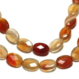 Shop Carnelian Faceted Beads! 2PC – stone – carnelian faceted 14x10mm ovals – 8741140019546 beads | Natural genuine faceted Carnelian beads for beading and jewelry making.  #jewelry #beads #beadedjewelry #diyjewelry #jewelrymaking #beadstore #beading #affiliate #ad