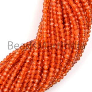 Shop Carnelian Faceted Beads! Carnelian Faceted Rondelle Machine Cut Beads, Faceted Carnelian Beads, Carnelian Rondelle Beads, Carnelian Beads, Natural Carnelian Beads | Natural genuine faceted Carnelian beads for beading and jewelry making.  #jewelry #beads #beadedjewelry #diyjewelry #jewelrymaking #beadstore #beading #affiliate #ad