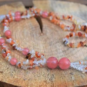 Shop Carnelian Necklaces! Carnelian & Cherry Quartz Necklace | Natural genuine Carnelian necklaces. Buy crystal jewelry, handmade handcrafted artisan jewelry for women.  Unique handmade gift ideas. #jewelry #beadednecklaces #beadedjewelry #gift #shopping #handmadejewelry #fashion #style #product #necklaces #affiliate #ad