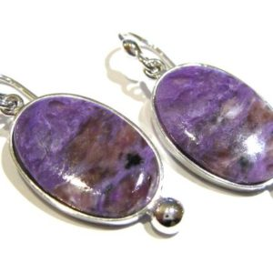 Shop Charoite Earrings! charoite earrings silver 925% | Natural genuine Charoite earrings. Buy crystal jewelry, handmade handcrafted artisan jewelry for women.  Unique handmade gift ideas. #jewelry #beadedearrings #beadedjewelry #gift #shopping #handmadejewelry #fashion #style #product #earrings #affiliate #ad