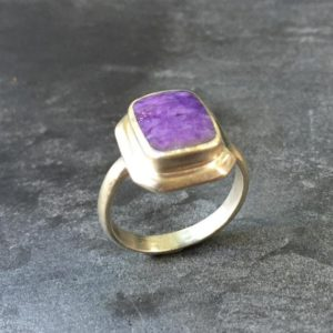 Shop Charoite Rings! Charoite Ring, Natural Charoite, Scorpio Ring, Scorpio Birthstone, Healing Stones, Purple Ring, Violet Ring, Vintage Ring, Solid Silver Ring | Natural genuine Charoite rings, simple unique handcrafted gemstone rings. #rings #jewelry #shopping #gift #handmade #fashion #style #affiliate #ad