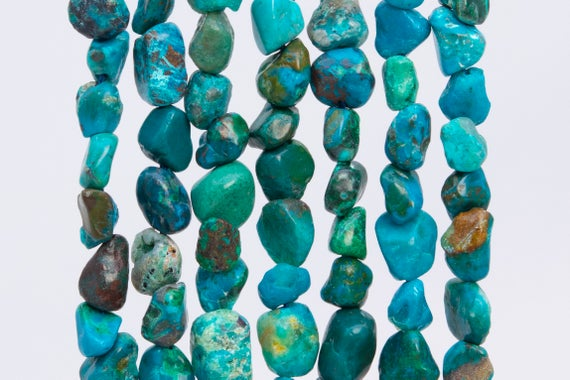 44-48 / 22-24 Pcs - 3-5mm Multicolor Chrysocolla Beads Grade Aaa Genuine Natural Pebble Nugget Gemstone Beads (108439)