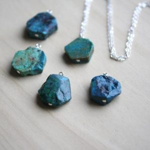 Chrysocolla Necklace . Raw Crystal Necklace Silver . Healing Crystal Necklace Gift for Wife . Chrysocolla Pendant Necklace | Natural genuine Chrysocolla pendants. Buy crystal jewelry, handmade handcrafted artisan jewelry for women.  Unique handmade gift ideas. #jewelry #beadedpendants #beadedjewelry #gift #shopping #handmadejewelry #fashion #style #product #pendants #affiliate #ad