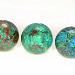 Shop Chrysocolla Round Beads! 15mm 100% Natural Shattuckite Chrysocolla Quantum Quattro Cuprite Green Blue Gemstone Grade AAA Round Loose Beads 2 Beads (80005766-880) | Natural genuine round Chrysocolla beads for beading and jewelry making.  #jewelry #beads #beadedjewelry #diyjewelry #jewelrymaking #beadstore #beading #affiliate #ad