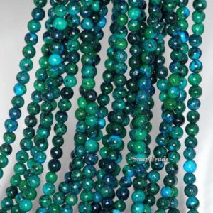 Shop Chrysocolla Round Beads! 3mm Chrysocolla Quantum Quattro Gemstone Green Blue Round 3mm Loose Beads 16 inch Full Strand (90143249-107) | Natural genuine round Chrysocolla beads for beading and jewelry making.  #jewelry #beads #beadedjewelry #diyjewelry #jewelrymaking #beadstore #beading #affiliate #ad