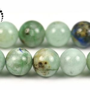 "Shop Chrysocolla Round Beads! Chrysocolla smooth round beads,Green Phoenix Stone,Genuine,Natural,Gemstone,diy beads,Grade A,10mm,15"" full strand 