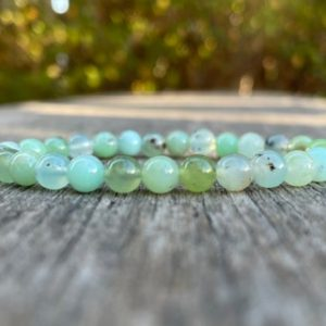 Shop Chrysoprase Bracelets! Dainty Chrysoprase Bracelet 6mm Grade AAA Natural Chrysoprase Beaded Gemstone Bracelet Stack Bracelet Unisex Bracelet Gift Bracel | Natural genuine Chrysoprase bracelets. Buy crystal jewelry, handmade handcrafted artisan jewelry for women.  Unique handmade gift ideas. #jewelry #beadedbracelets #beadedjewelry #gift #shopping #handmadejewelry #fashion #style #product #bracelets #affiliate #ad