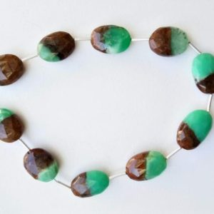 Shop Chrysoprase Bead Shapes! 14-17mm Bio Chrysoprase Faceted Oval Beads, Natural Bio Chrysoprase Faceted Oval Fancy Beads, Chrysoprase For Necklace (4IN To 8IN Options) | Natural genuine other-shape Chrysoprase beads for beading and jewelry making.  #jewelry #beads #beadedjewelry #diyjewelry #jewelrymaking #beadstore #beading #affiliate #ad