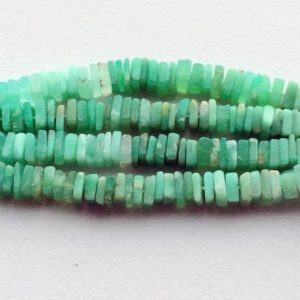 Shop Chrysoprase Bead Shapes! 5-6mm Chrysoprase Heishi, Green Chrysoprase Dish Heishi Bead, Chrysoprase For Necklace, Chrysophase Square Heishi Beads (8IN To 16IN Option) | Natural genuine other-shape Chrysoprase beads for beading and jewelry making.  #jewelry #beads #beadedjewelry #diyjewelry #jewelrymaking #beadstore #beading #affiliate #ad