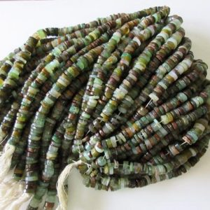 Shop Chrysoprase Rondelle Beads! Beautiful Chrysoprase Tyre Rondelles, 9mm Smooth Natural Chrysoprase Heishi Beads, 13 Inch Strand, GDS12 | Natural genuine rondelle Chrysoprase beads for beading and jewelry making.  #jewelry #beads #beadedjewelry #diyjewelry #jewelrymaking #beadstore #beading #affiliate #ad