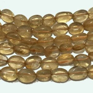 Shop Citrine Bead Shapes! Natural Citrine Plain Smooth Oval 6mm to 10mm 13 Inches Loose Beads strand/Citrine/Oval Beads/Yellow beads/Gemstone Beads | Natural genuine other-shape Citrine beads for beading and jewelry making.  #jewelry #beads #beadedjewelry #diyjewelry #jewelrymaking #beadstore #beading #affiliate #ad