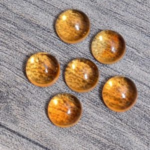 Shop Citrine Round Beads! Natural Citrine Gemstone 9mm Round Cabochon | AAA+ Citrine Semi Precious Gemstone Flat Back Smooth Cabs | Citrine Loose Gemstone Cabochon | Natural genuine round Citrine beads for beading and jewelry making.  #jewelry #beads #beadedjewelry #diyjewelry #jewelrymaking #beadstore #beading #affiliate #ad