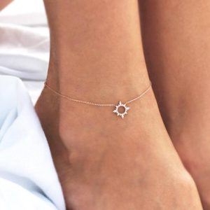Shop Diamond Bracelets! Diamond Anklet, Bohemian Beach Bracelet in 14k Solid Gold | Natural genuine Diamond bracelets. Buy crystal jewelry, handmade handcrafted artisan jewelry for women.  Unique handmade gift ideas. #jewelry #beadedbracelets #beadedjewelry #gift #shopping #handmadejewelry #fashion #style #product #bracelets #affiliate #ad
