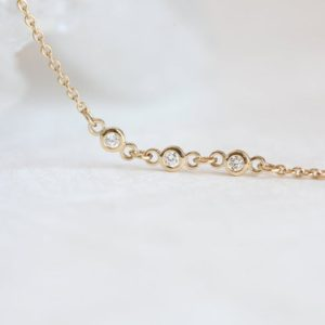 Shop Diamond Bracelets! Diamond Anklet in 14k Solid Gold Bracelet with 2mm Bezel Set Diamonds, Dainty Gift For Her | Natural genuine Diamond bracelets. Buy crystal jewelry, handmade handcrafted artisan jewelry for women.  Unique handmade gift ideas. #jewelry #beadedbracelets #beadedjewelry #gift #shopping #handmadejewelry #fashion #style #product #bracelets #affiliate #ad