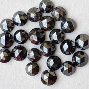 Shop Diamond Cabochons! 2-2.5mm Black Rose Cut Diamond Cabochons, Black Diamonds Flat Back, Natural Round Rose Cut Diamond For Jewelry (5Pcs To 10Pcs) | Natural genuine stones & crystals in various shapes & sizes. Buy raw cut, tumbled, or polished gemstones for making jewelry or crystal healing energy vibration raising reiki stones. #crystals #gemstones #crystalhealing #crystalsandgemstones #energyhealing #affiliate #ad