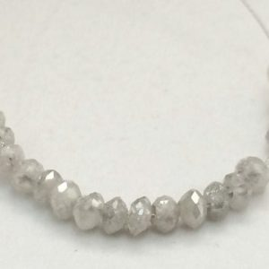 Shop Diamond Faceted Beads! 3mm Grey White Sparkling Diamonds, Faceted Diamond Rondelle Beads, 0.7mm Hole Size Faceted Diamond For Jewelry (1Pc To 10Pc Options) – DS161 | Natural genuine faceted Diamond beads for beading and jewelry making.  #jewelry #beads #beadedjewelry #diyjewelry #jewelrymaking #beadstore #beading #affiliate #ad