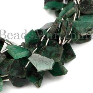 Shop Emerald Chip & Nugget Beads! Emerald Flat Nugget Shape Gemstone Beads, Emerald Fancy Nugget Beads, Emerald Beads, Emerald, Emerald Nugget New Arrival Beads | Natural genuine chip Emerald beads for beading and jewelry making.  #jewelry #beads #beadedjewelry #diyjewelry #jewelrymaking #beadstore #beading #affiliate #ad