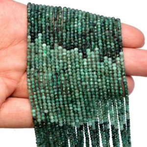 Shop Emerald Faceted Beads! Natural Emerald Gemstone 3mm-4mm Faceted Rondelle Beads | Multi Emerald Precious Gemstone  Loose Beads for Jewelry | 13inch Strand | Natural genuine faceted Emerald beads for beading and jewelry making.  #jewelry #beads #beadedjewelry #diyjewelry #jewelrymaking #beadstore #beading #affiliate #ad