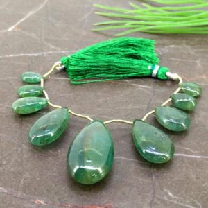 Shop Emerald Bead Shapes! Natural Emerald 11-32mm Smooth Pear Gemstone Beads / Approx 9 Pieces on 4 Inch Long Strand / JBC-ET-155880 | Natural genuine other-shape Emerald beads for beading and jewelry making.  #jewelry #beads #beadedjewelry #diyjewelry #jewelrymaking #beadstore #beading #affiliate #ad