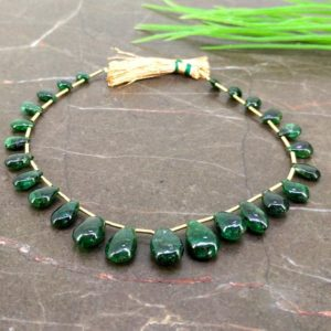 Shop Emerald Bead Shapes! Natural Emerald 6-12mm Smooth Pear Gemstone Beads / Approx 25 Pieces on 8 Inch Long Strand / JBC-ET-155882 | Natural genuine other-shape Emerald beads for beading and jewelry making.  #jewelry #beads #beadedjewelry #diyjewelry #jewelrymaking #beadstore #beading #affiliate #ad