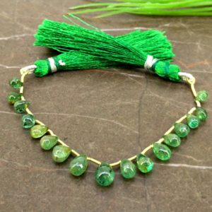 Shop Emerald Bead Shapes! Natural Emerald 6-8mm Smooth Drops Gemstone Beads / Approx 17 Pieces on 4 Inch Long Strand / JBC-ET-155878 | Natural genuine other-shape Emerald beads for beading and jewelry making.  #jewelry #beads #beadedjewelry #diyjewelry #jewelrymaking #beadstore #beading #affiliate #ad
