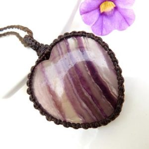 Shop Fluorite Necklaces! Flow with your Truth, Fluorite Crystal necklace, Fluorite jewelry, Protection from Negative Energy, Macrame necklace, Heart necklace | Natural genuine Fluorite necklaces. Buy crystal jewelry, handmade handcrafted artisan jewelry for women.  Unique handmade gift ideas. #jewelry #beadednecklaces #beadedjewelry #gift #shopping #handmadejewelry #fashion #style #product #necklaces #affiliate #ad