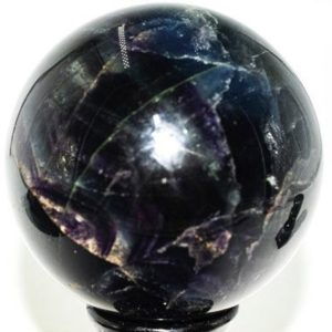 """Shop Fluorite Shapes! Dark Rainbow Fluorite Sphere  3.9"""" Diameter weighs over 3.6 Pound 