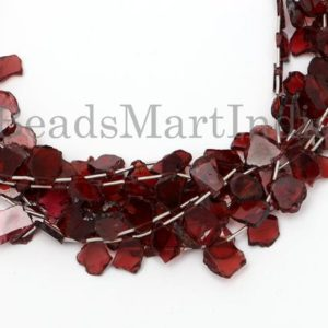 Shop Garnet Chip & Nugget Beads! Mozambique Garnet Flat Nugget Shape Gemstone Beads, Mozambique Garnet Nugget Shape Beads, Garnet Flat Nugget, Mozambique Garnet Beads | Natural genuine chip Garnet beads for beading and jewelry making.  #jewelry #beads #beadedjewelry #diyjewelry #jewelrymaking #beadstore #beading #affiliate #ad