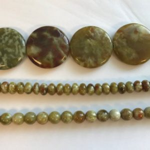 Shop Garnet Rondelle Beads! Natural Green Garnet Coin,Rondelle, Round Gemstone Beads-15.5 inch Strand | Natural genuine rondelle Garnet beads for beading and jewelry making.  #jewelry #beads #beadedjewelry #diyjewelry #jewelrymaking #beadstore #beading #affiliate #ad