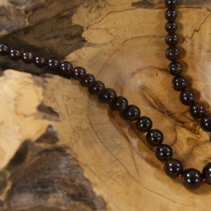 Shop Garnet Round Beads! Graduated Red Garnet Smooth Round Shaped Natural Gemstone Bead-5mm up to 10mm~ -15.5 inch strand-   Natural genuine round Garnet beads for beading and jewelry making.  #jewelry #beads #beadedjewelry #diyjewelry #jewelrymaking #beadstore #beading #affiliate #ad