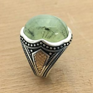 Shop Moss Agate Rings! Handmade Silver Men Rings, Unique men ring, moss agate ring , Men's Ring's , Ups free express shipping.   Natural genuine Moss Agate rings, simple unique handcrafted gemstone rings. #rings #jewelry #shopping #gift #handmade #fashion #style #affiliate #ad