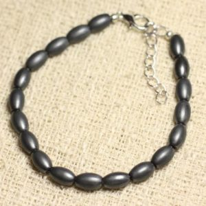 Bracelet 925 sterling silver and stone – Hematite 8mm matte olive | Natural genuine Array bracelets. Buy crystal jewelry, handmade handcrafted artisan jewelry for women.  Unique handmade gift ideas. #jewelry #beadedbracelets #beadedjewelry #gift #shopping #handmadejewelry #fashion #style #product #bracelets #affiliate #ad